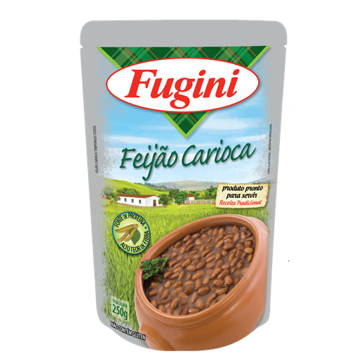 Brazilian carioca beans FUGINI stand up pouch 250g