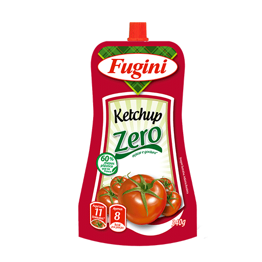 Zero ketchup FUGINI stand up pouch 340g