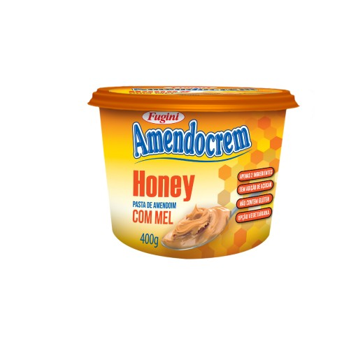Pasta de Amendoim Honey Fugini Pote 400g
